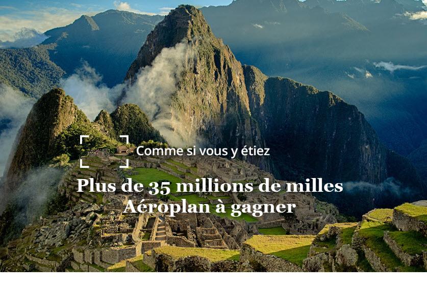 Air Canada célèbre les 35 ans d'Aéroplan en organisant le plus grand concours de son histoire : plus de 35 millions de milles à gagner